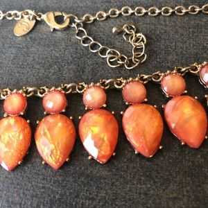 Charming Charlie Goldtone & Orange Gem Cabochons